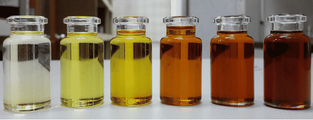 aging transformer oil color difference